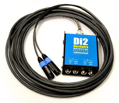 Whirlwind DI2-025-XX 25ft 2-Channel DI-XLR Box-to-Fan Snake DI2-025-XX