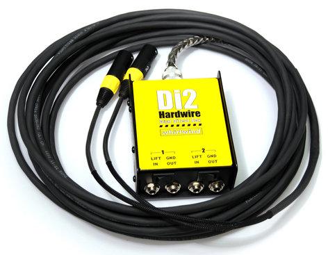 Whirlwind DI2-015-XX 15ft 2-Channel DI-XLR Box-to-Fan Snake DI2-015-XX