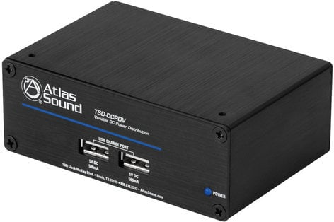Atlas Sound TSD-DCPDV 1 In 6 Out DC Power Distribution with Fixed and Variable 5-24VDC Outputs TSD-DCPDV