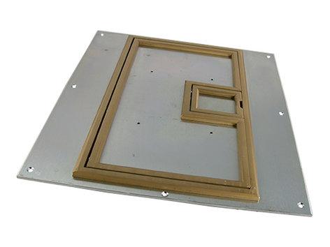 """FSR FL-540P-BLP-C Cover for FL-540P Floor Box with 1/4"""" Brass Carpet Flange FL-540P-BLP-C"""