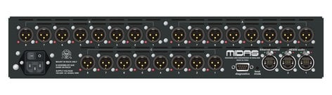 Midas DL151 24-Input Stagebox with MIDAS Mic Preamps and Dual-Redundant AES50 Networking DL151