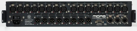 Midas DL153 16-Input x 8-Output Stagebox with MIDAS Mic Preamps and Dual-Redundant AES50 Networking DL153