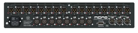 Midas DL154 8-Input x 16-Output Stagebox with MIDAS Mic Preamps and Dual-Redundant AES50 Networking DL154
