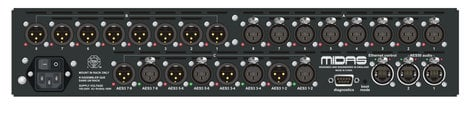 Midas DL155  8-Input/8-Output/8-AES/EBU Stagebox with MIDAS Mic Preamps and Dual-Redundant AES50 Networking DL155
