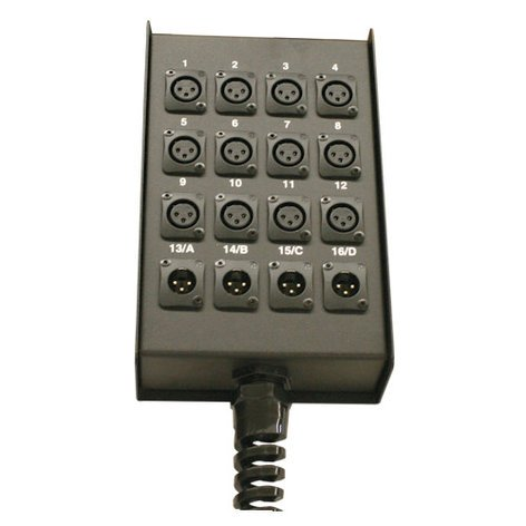 RapcoHorizon Music S12MBPR  12-Ch Punched Stage Box with Relief S12MBPR