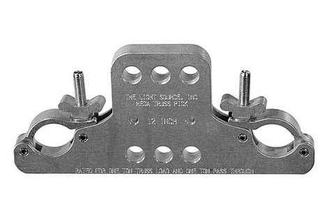 "The Light Source MTP12MHB 12"" 1-Ton Multi-Hole Mega-Truss Pick in Black MTP12MHB"