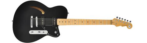 Reverend Guitars Stu D. Baker Midnight Black Signature Semi-Hollowbody Electric Guitar with Gig Bag SDB-BLACK