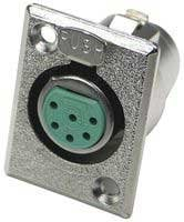 Switchcraft D6F  6-Pin Female XLR Panel Connector D6F