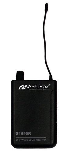 AmpliVox S1690R Wireless 16-Channel UHF Bodypack Receiver S1690R