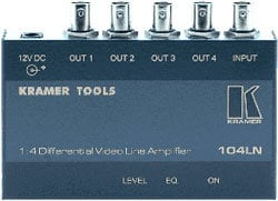 Kramer 104LN Composite Video Line Amp and 1x4 distribution amp 104LN