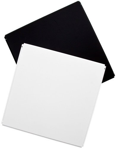 Acoustic Geometry AGCTSKMW10PK  Ten Silk Metal Ceiling Tiles in White AGCTSKMW10PK