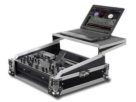 Odyssey FZGS8CDMIX  Flight Zone Glide Style Rackmount DJ Controller and Front Load CD/Digital Media Mixer Case FZGS8CDMIX