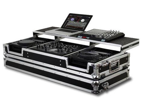 Odyssey FZGSP22000W Flight Zone Glide Style Remixer Series DJ Coffin for DJM-2000 & 2 Large Format Tabletop CD/Digital Media Players FZGSP22000W