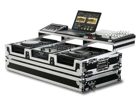 "Odyssey FZGSP10CDJW Remixer Glide Style Series CD/Digital Media DJ Coffin Case for 2 Large-Format Table Top CD/Digital Media Players & 10"" Wide Mixer FZGSP10CDJW"