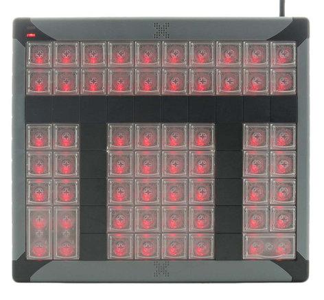 PI Engineering, Inc. X-Keys XK-60 60-Key Programmable USB Keypad XK-0979-UBK60-R