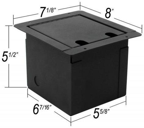 Elite Core Audio FB4-SP Recessed Floor Box with 4x XLR-F and 2 Speakon Jacks FB4-SP