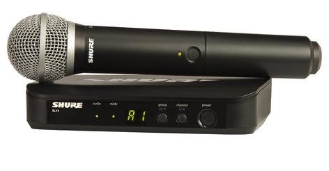 Shure BLX24/PG58-J10 Wireless System with PG58 Handheld Microphone Transmitter & BLX2 Transmitter, 584-608 MHz BLX24/PG58-J10
