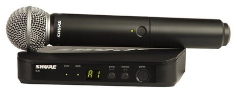 Shure BLX24/SM58-J10 Wireless Vocal Microphone System with SM58 Handheld Transmitter, 584-608 MHz BLX24/SM58-J10