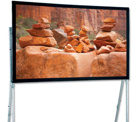 """Draper Shade and Screen 241077  16' 8"""" NTSC Ultimate Folding Portable Projection Screen with CineFlex Surface 241077"""