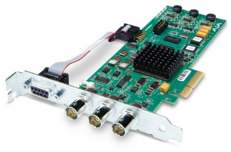 AJA Video Systems Inc CORVID 3G PCIe 4x Card for 8/10-bit Uncompressed Digital 3G, HD, SD I/O CORVID-3G