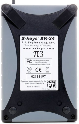 PI Engineering, Inc. X-Keys XK-24 24-Key Programmable USB Keypad XK-24-USB-R