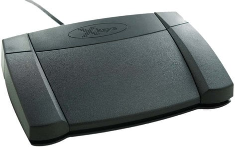 PI Engineering, Inc. X-Keys XK-3 Foot Pedal Programmable Rear Hinged USB Foot Pedal XK-0986-UEP3-R
