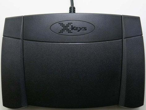 PI Engineering XK-0986-UEP3-R X-Keys XK-3 Foot Pedal Programmable Rear Hinged USB Foot Pedal XK-0986-UEP3-R