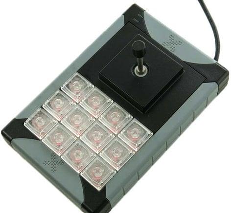 PI Engineering, Inc. X-Keys XK-12 + Joystick 12-Key Programmable USB Keypad with Joystick XK-0983-UAJ12-R