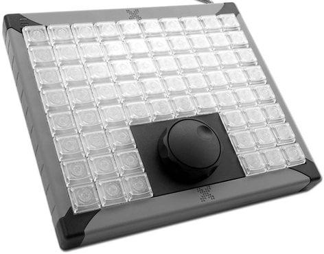 PI Engineering XK-0990-UBG68-R X-Keys XK-68 Jog & Shuttle 68-Key Programmable USB Keyboard with Jog/Shuttle Wheel XK-0990-UBG68-R