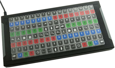 PI Engineering, Inc. X-Keys XK-128 128-Key Programmable USB Keyboard XK-1225-UFK128-R