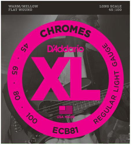 D`Addario ECB81 Light Chromes Series Long Scale Electric Bass Strings ECB81