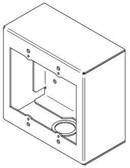 FSR, Inc SMWB-2G-BLK  2-Gang Surface Mount Gang Box in Black SMWB-2G-BLK