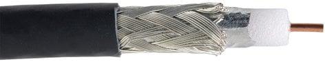 Liberty AV Solutions 20-CMP-VID-COAX-BLK  1000 ft Reel of Serial Digital RG59 Dual Shield 4.5 GHz Plenum Coaxial Cable 20-CMP-VID-COAX-BLK