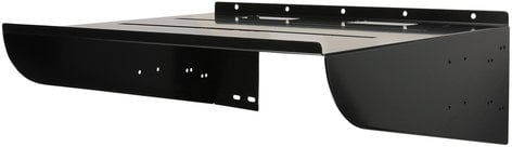"Quam WS20X16 20"" x 16"" Steel Wall Mount Equipment Shelf in Black WS20X16"