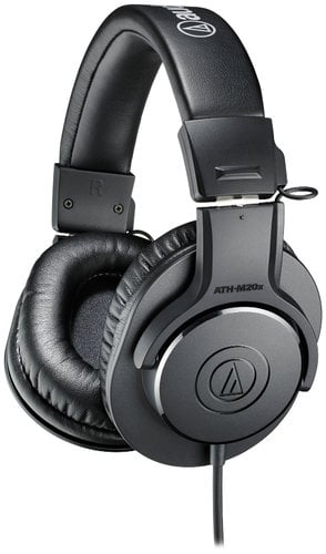 Audio-Technica ATH-M20x M Series Professional Closed Back Monitor Headphones ATH-M20X