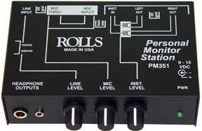 Rolls PM351 Personal Headphone Monitor PM351