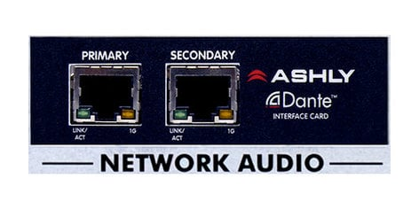 Ashly OPDANTE  Dante Input Option for the NXE or NXP Amplifiers OPDANTE