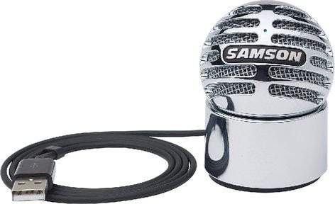 Samson Meteorite Chrome-Plated USB Cardioid Condenser Microphone METEORITE