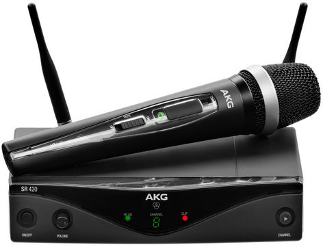AKG WMS420-VOCAL WMS420 Vocal Set Wireless Microphone System with HT420 Handheld Transmitter WMS420-VOCAL