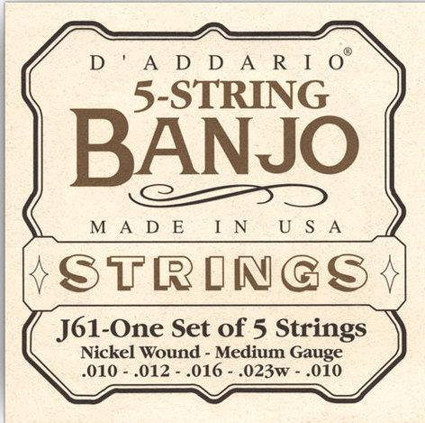 D`Addario J61 Medium Banjo Strings J61