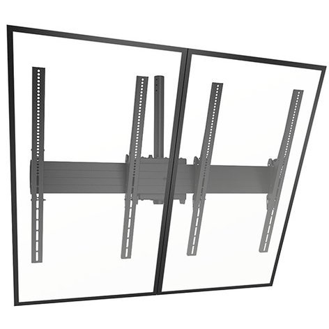 Chief Manufacturing LCM2X1UP FUSION Large Ceiling Mounted 2 x 1 Portrait Menu Board LCM2X1UP