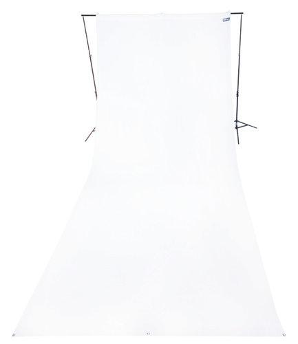 Westcott 139 9 ft x 20 ft Wrinkle Resistant Cotton Backdrop in White 139-WESTCOTT