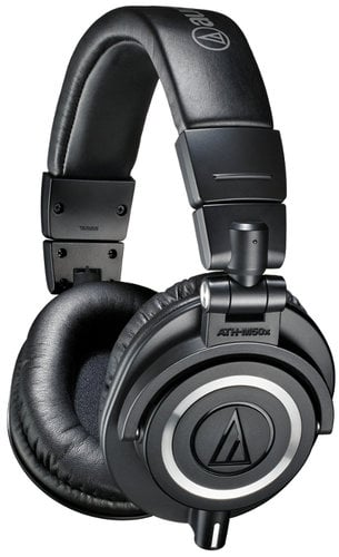 Audio-Technica ATH-M50x M Series Closed Back Professional Stereo Headphones with 45mm Drivers and Detachable Cables ATH-M50X