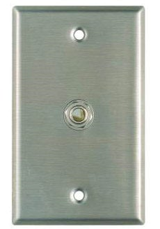 "RapcoHorizon Music SP-111 Single Gang Stainless Steel Wallplate with Switchcraft 11 1/4"" Jack SP-111"