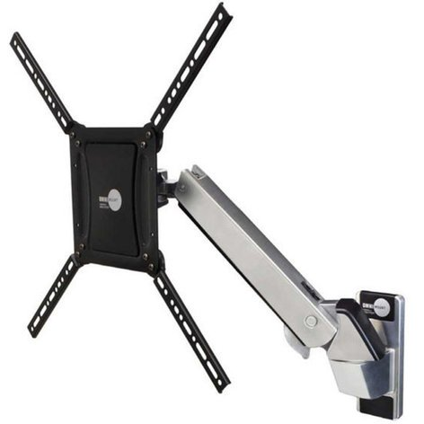 Omnimount PLAY70 Interactive TV Wall Mount in Polished Aluminum with Black Trim PLAY70
