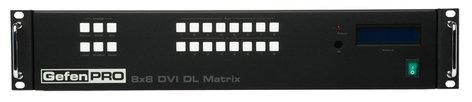 Gefen Inc GEF-DVI-848DL-PB 8 x 8 DVI Matrix with Front Panel Push Button Control GEF-DVI-848DL-PB