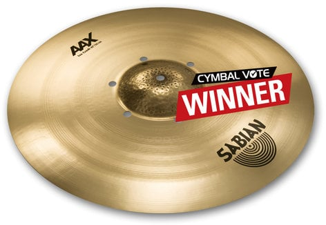 "Sabian 220XISOCB 20"" AAX Iso Crash Cymbal in Natural Finish 220XISOCB"