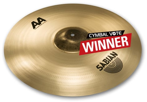 "Sabian 2200772 20"" AA Raw Bell Crash Cymbal in Natural Finish 2200772"