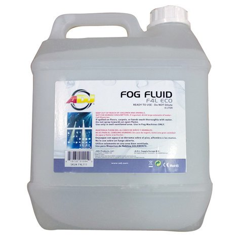 ADJ F4L-ECO 4 Liter Container of Eco-Friendly High Quality Fog Fluid F4L-ECO