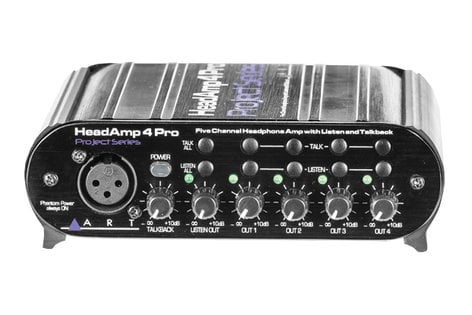 ART HeadAMP 4 Pro 5 Channel Headphone Amplifier with Talkback HEADAMP-4-PRO
